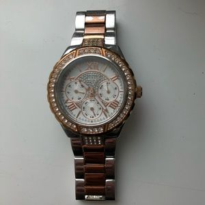 GUESS Rose Gold & Silver Watch